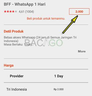 paket whatsapp tri gratis