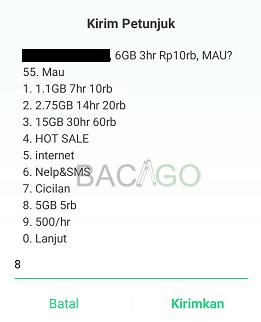 cara daftar paket tri 5gb 5000