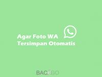 Agar Foto WhatsApp Tersimpan Otomatis