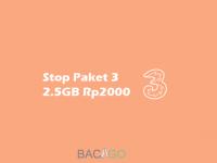Cara Stop Paket Tri 2.5GB 2000