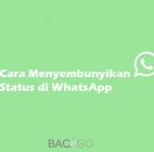Cara Menyembunyikan Status di WhatsApp