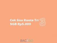 Cek Kuota Tri 5GB 5000
